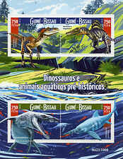 Guinea-Bissau 2015 MNH Dinosaurs 4v MS Ichtyosaurus Liopleurodon Stamps