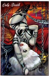 Lady Death Mischief Night #1 Exclusive Menage A MoI Variant Signed W COA!