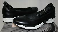 19e9e89f078e09 Jeffrey Campbell Skiprope sneaker ballet flats black leather sz 10 New With  Box