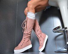 Sexy STIEFELETTEN Damenschuhe Trendy Party Pumps Sneaker FREIZEITSCHUHE Pink  36