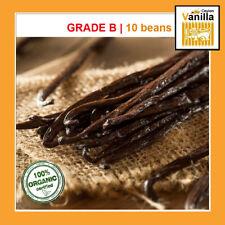 "10 Extract Grade B Madagascar Bourbon Vanilla Beans/Pods (5""- 7"") Inchers"