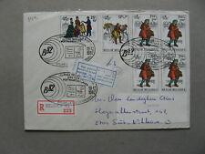 BELGIUM, R-cover 1982, spec. canc. + R-label BELGICA 82, postal transport