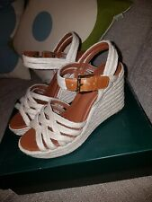 Ralph Lauren natural jute & leather Wedge Sandals new Size Uk5