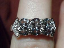 Super Rare Natural Tunduru Colour Change Sapphire & Topaz Silver Ring 1.45cts