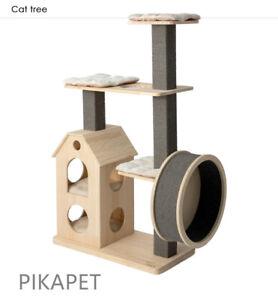 NEW HONEYPOT CAT Climbing Tree Finnish Pine Runner Wheel Cat Tree AU STOCK