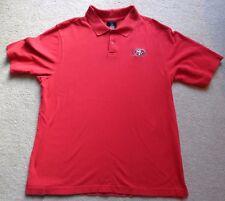 San Francisco 49ers Reebok Polo Shirt Large NFL Team Apparel L Coaches Sideline