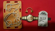 WWE/TNA Figure Weapons ECW Championship, Headset, Tombstone & Barb Wire Platform