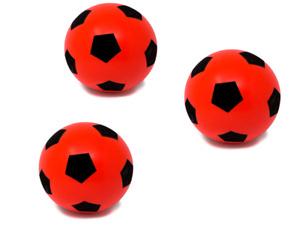 E-Deals Sponge/Foam Football 17.5cm Indoor/Outdoor Use - Red - Pack of 3