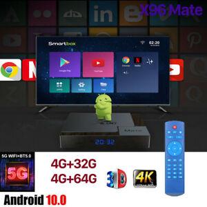 X96MATE(H616) Android 10.0 TV BOX 2.4G/5G WIFI 6K Boîtier Numérique Intelligent