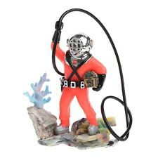 Bubbling Treasure Diver Plastic Fish Tank Ornament Air-operated Aquarium Decor
