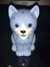 Vintage Hand Crafted Japanese Otagiri Blue Cat Creamer Pitcher Planter Cat Lover