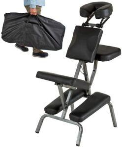 Chaise de massage pliante portable tattoo rembourrage épais charge 200kg + sac