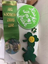 Lot of 5 Five St Patrick's Day Pins Some Vintage Signed Handmade