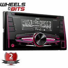 Nueva marca JVC KW-R520 doble DIN coche estéreo CD MP3 USB Aux-In Android listo