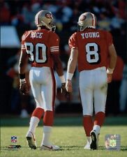 San Francisco 49ers Steve Young Jerry Rice Licensed Unsigned Glossy 8x10 Photo G