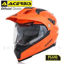 CASCO MOTO INTEGRALE ACERBIS FLIP FS-606 ENDURO CROSS MOTARD ARANCIO FLUO TG. XL