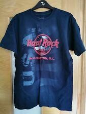 Men's fit Medium Hard Rock cafe Washington T shirt navy new without tags
