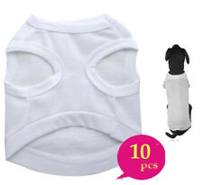 10xPlain Dog Shirt Cotton Pet Clothing Blank Puppy Tees T Shirt Tank Clothes
