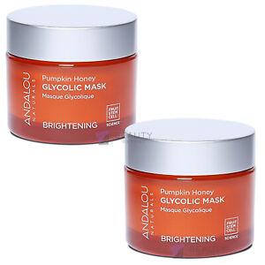 Andalou Naturals Glycolic Face Mask Pumpkin Honey Puffy Eye Treatment PACK OF 2