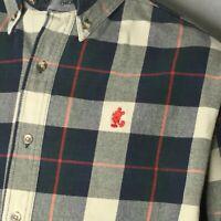 Walt Disney World Flannel Shirt Sz XL Mickey Mouse Heavy Blue Gray Plaid