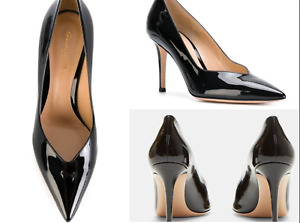 GIANVITO ROSSI Paris 85 Patent Leather Pumps Schuhe Deep-cut Heeled Shoes New 40