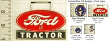 Ford automobile & tractor decorative fobs, various designs & keychain options