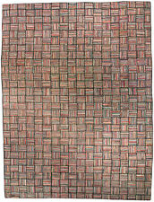 Mid Century Striped American Hooked Rug BB3622