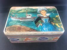 Vintage French Biscuit Advertising Tin Galettes St Michel Coiffe De Pont Avon