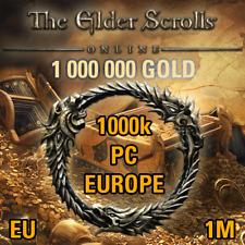 1000k ESO GOLD PC EU Server 1 Million, 1000000 TESO The Elder Scrolls Online