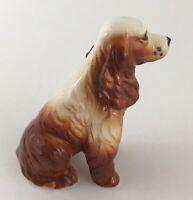Vintage Springer Cocker Spaniel Dog Figurine Ceramic HandPainted Small Miniature
