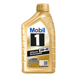 Mobil 1 0W-40 Full Synthetic Engine Oil 1L 140523 fits Citroen DS3 1.2 VTi 82...
