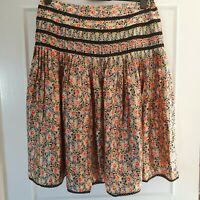 LINEA (UK Size 14) 100% Silk Floral Spring/Summer Knee Length Skirt - Ditsy