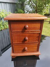 Mini wooden chest of drawers great for jewellery.