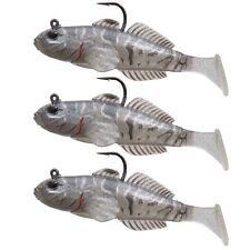 """Koppers Live Target Goby 4"""" Paddle Tail - Goby Color Great Smallmouth Bass Lure"""