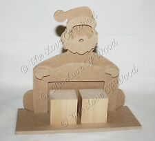 Free standing 3D SANTA COUNTDOWN wooden craft shape MDF thick