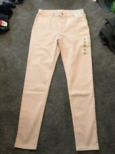 M&S Light Pink Super soft Skinny Jeggings  Size 12 Long BNWT Free Sameday P&p