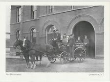 "*Postcard-""The Fire Department"" ...*Livingston, MT (A64-1)"
