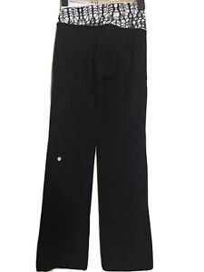Lululemon Yoga Pants Womens Size 2 Black White