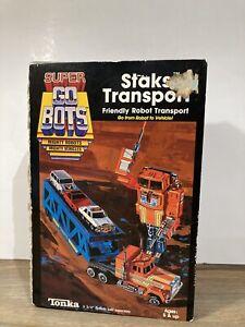 Vintage Tonka 1985 Super Go Bots STAKS Transport Transformer 7244 Complete w/Box