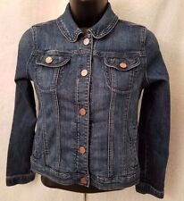 Gap Kids 1969 Girls Blue Snap Front Jean Jacket Coat Size XXL