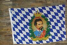 Hissflagge König Ludwig II Größe 60 x 90 cm.