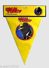 Dick Tracy Flag Banner ~ Vintage Comic Birthday Party Supplies Decorations Show