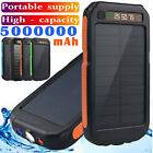 5000000mAh Backup External Battery Solar Power Bank Pack Charger for Cell Phone