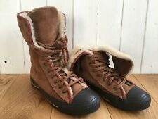 Rare Converse High Tops | Sherpa Fur Lined Suede Outer | Size 4.5 UK 37 EU