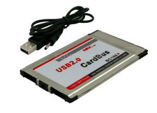 New PCMCIA to USB 2.0 CardBus 2 Port 480M Inside hide