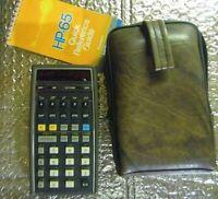 Hewlett Packard HP-65 Vintage Scientific Programmable Calculator Case Nonworking