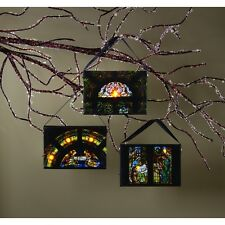 OWI Christmas Light-Up Ornaments - Christ id Born Nativity Theme 3pc. #46617