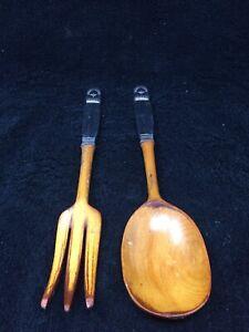 Sterling Handled Wooden Knife And Fork Set