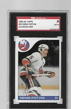 1985-86 TOPPS HOCKEY DENIS POTVIN AUTOGRAPHED CARD SLABBED SCG AUTHENTIC