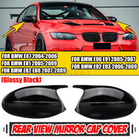 M3 Look Mirror Cover Cap Gloss Black For BMW E90 E91 05-07 E92 E93 06-09 PRE-LCI